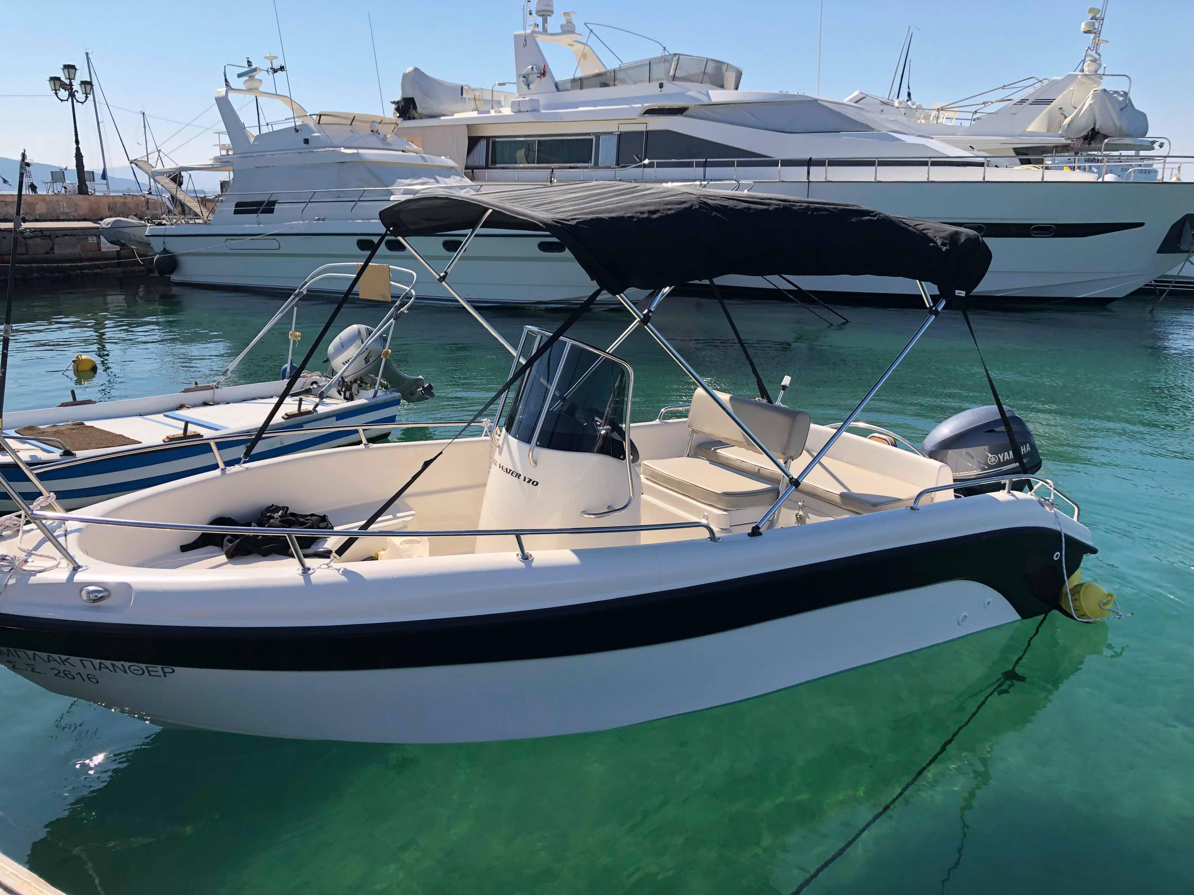 hire a boat in santorini